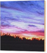 Sunset Over Madisonville Wood Print by Regina McLeroy