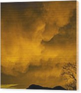 Sunset Over Manitou Springs Colorado Wood Print