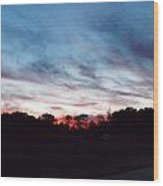 Sunset Over Mecca Pike Wood Print