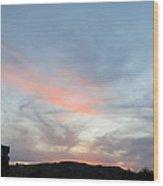 Sunset Over Monhegan Wood Print