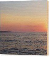 Sunset Over Montauk Wood Print by John Telfer
