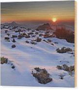 sunset over National park Sierra Nevada Wood Print