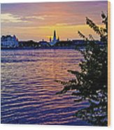 Sunset Over New Orleans 1 Wood Print