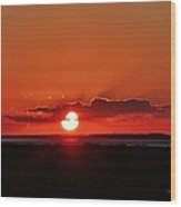 Sunset Over Ocracoke Island Wood Print