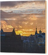 Sunset Over Old Moscow - Featured 2 Wood Print