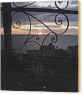 Sunset Over Puerto Vallarta Wood Print