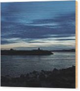 Sunset Over Quonny Rhode Island Wood Print