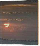 Sunset Over Rochester Wood Print