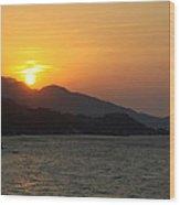 Sunset Over Samos Wood Print