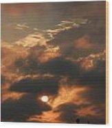 Sunset Over San Francisco Bay Wood Print