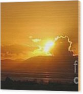 Sunset Over San Pablo Bay Wood Print