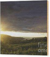 Sunset Over Skaneateles Wood Print