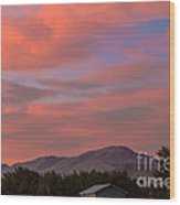 Sunset Over Squaw Butte Wood Print