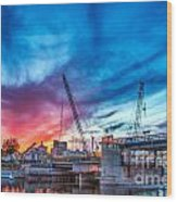 Sunset Over St. Paul Wood Print