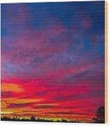 Sunset Over Swansea Tasmania Wood Print