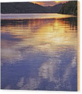 Sunset Over The Arkansas River Wood Print