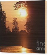 Sunset Over The Canals Wood Print
