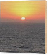 Sunset Over The Caribbean Wood Print