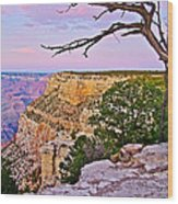 Sunset Over The Grand Canyon From South Rim Trail In Grand Canyon National Park-arizona   Wood Print