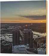 Sunset Over The James Wood Print