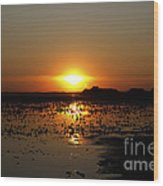 Sunset Over The Lake 3 Wood Print