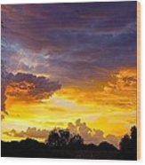 Sunset Over The Mc Dowell Mountains Wood Print