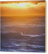 Sunset Over The Ocean IIi Wood Print