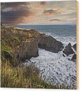 Sunset Over The Oregon Coast Wood Print