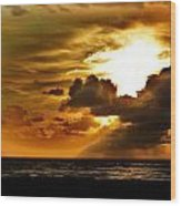 Sunset Over The Pacific II Wood Print by Helen Carson