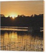 Sunset Over The Pontoon 4 Wood Print