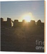 Sunset Over The Sand Castle 3 Wood Print