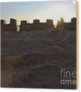 Sunset Over The Sand Castle 4 Wood Print