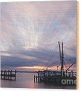 Sunset Over The Senseless Fernandina Beach Florida Wood Print
