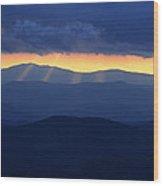 Sunset Over The Smokies Wood Print