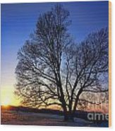 Sunset Over Valley Forge Wood Print