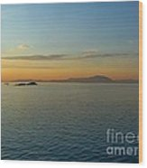 Sunset Over Vancouver Island Wood Print