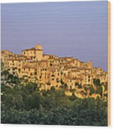 Sunset Over Vieux Nice - Old Town - France Wood Print