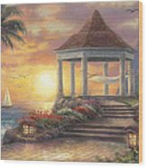 Sunset Overlook Wood Print by Chuck Pinson