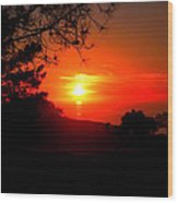 Sunset Pacifica Wood Print