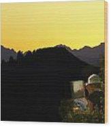 Sunset Painter Wood Print