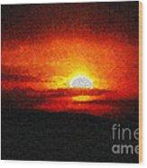 Sunset Painting Wood Print