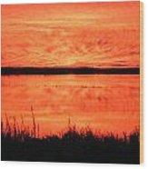 Sunset Panarama Lacassine Wood Print