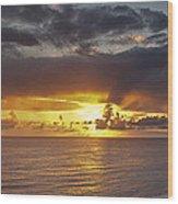 Sunset Panorama Wood Print by Andrew Soundarajan