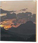 Sunset Panorama Banff National Park Wood Print