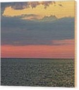 Sunset Panorama Over Atlantic Ocean Wood Print
