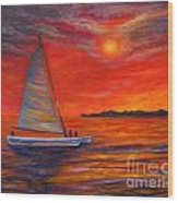 Sunset Passion Wood Print