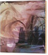 Sunset Pond Wood Print