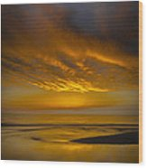 Sunset Power Wood Print by Thomas Pettengill