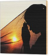 Sunset Prayers Wood Print