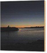Sunset Quonny Wood Print